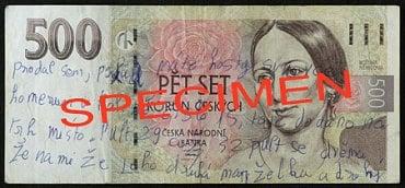 Běžně poškozená bankovka: Popsaná bankovka. Fyzická osoba: může přijetí odmítnout. Právnická osoba a směnárník: přijímají a nevrací do oběhu, pokud je celá; není-li celá, mohou přijetí bankovky odmítnout. Úvěrová instituce provádějící pokladní operace: přijímá a nevrací zpět do oběhu.