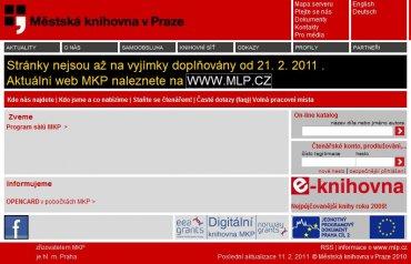 Původní web MKP