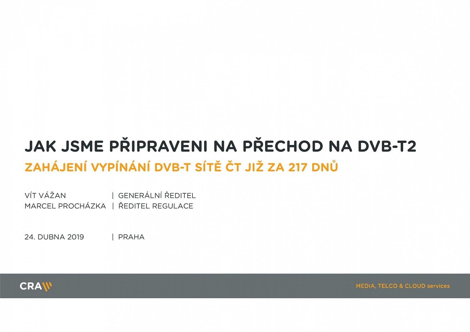 Parametry DVB-T2, termíny přechodu a stanice v multiplexech
