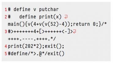 Python+Perl+Ruby+C+Brainfuck+Befunge