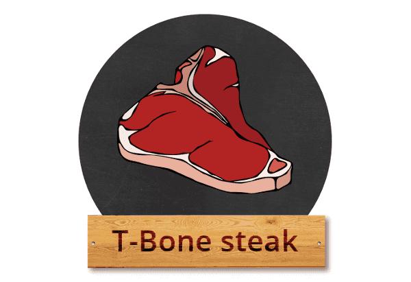"""T-Bone steak: """"T Rex mezi steaky"""""""