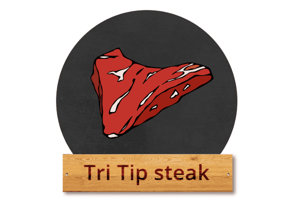 "Tri Tip steak: ""Trip Trap Trop"""