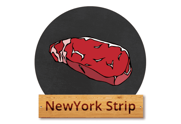 "New York strip: ""Big Apple steak"""