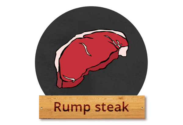 "Rump steak: ""Rumpcajs"""