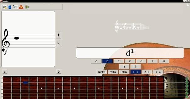 Nootka vás naučí noty a hrát na kytaru