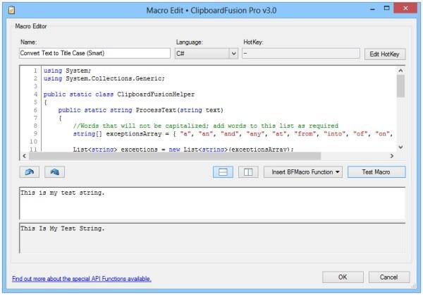 ClipboardFusion odstraní formátování z textu vloženého do schránky