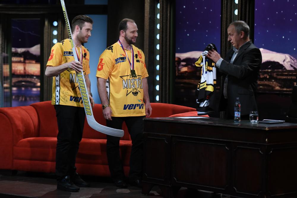 Hokejisté Litvínova hosty Show Jana Krause na Primě