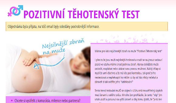 Objednali jsme si pozitivní těhotenský test