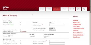 IPFire - instalace/webinterface