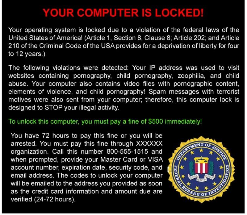 "Ransomware označovaný jako ""FBI Pornography"""