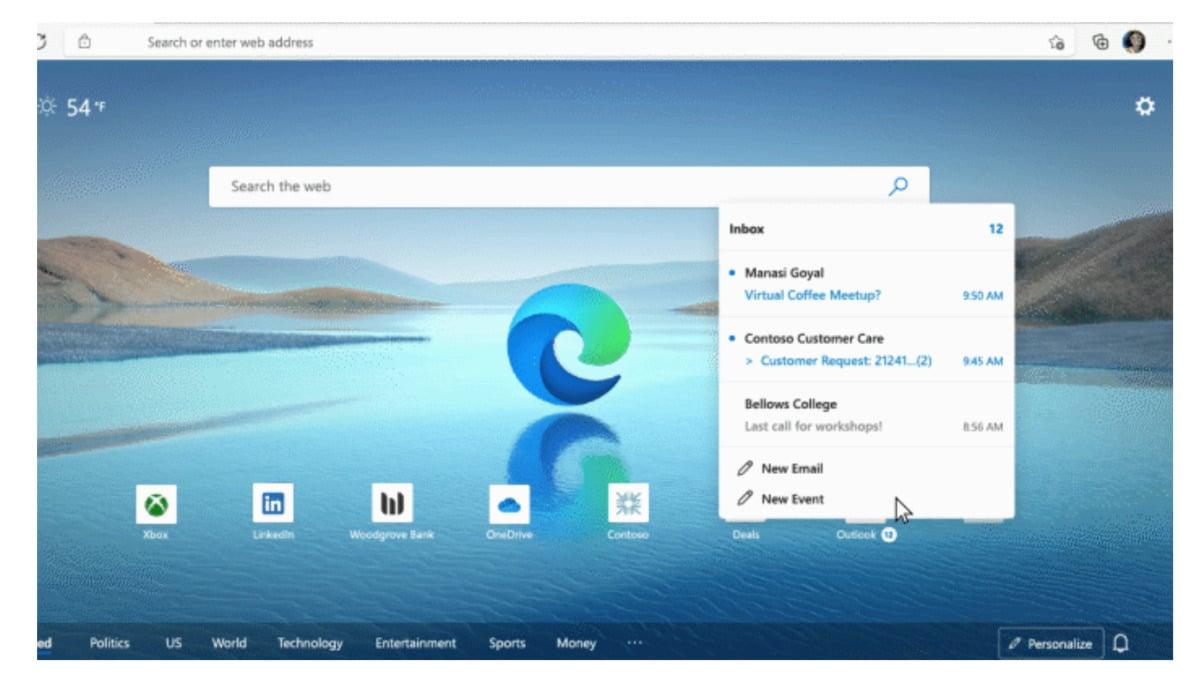 Získá mezi uživateli možnost otevřít e-mailovou zprávu v kartě internetového prohlížeče Edge oblibu? Těžko říci – alespoň nyní.