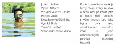 Profil Roberta na webu MujZnamy.cz je falešný.
