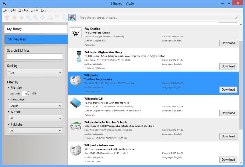 Kiwix stáhne Wikipedii do vašeho PC i smartphonu