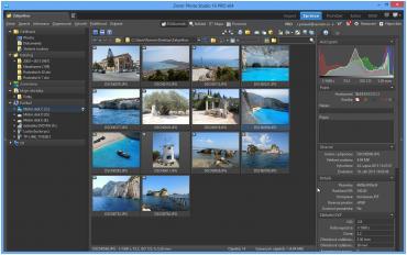 Správce nově obsahuje 4 různé pohledy pro zobrazení fotografií - ukázka průzkumníka a mapy