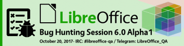 LibreOffice 6.0 Alpha 1 Bug Hunting Session
