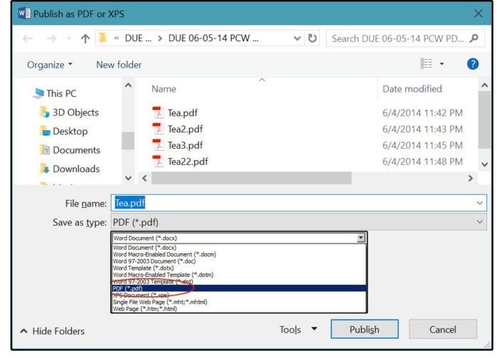 Uložení upraveného souboru PDF ve formátu DOCX zpět do formátu PDF
