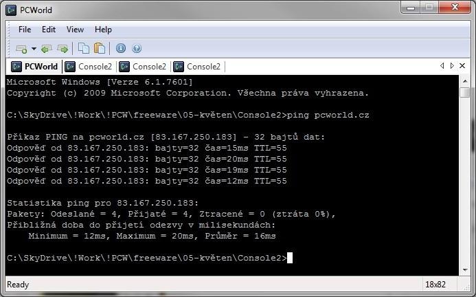 Console je vylepšený příkazový řádek