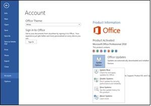 Z rozevírací nabídky Možnosti aktualizace vyberte možnost Aktualizovat hned.