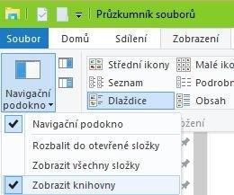 Zobrazení knihoven ve Windows 10