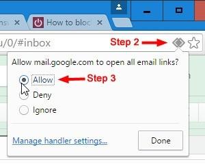 Otevírání e-mailových odkazů v Gmailu