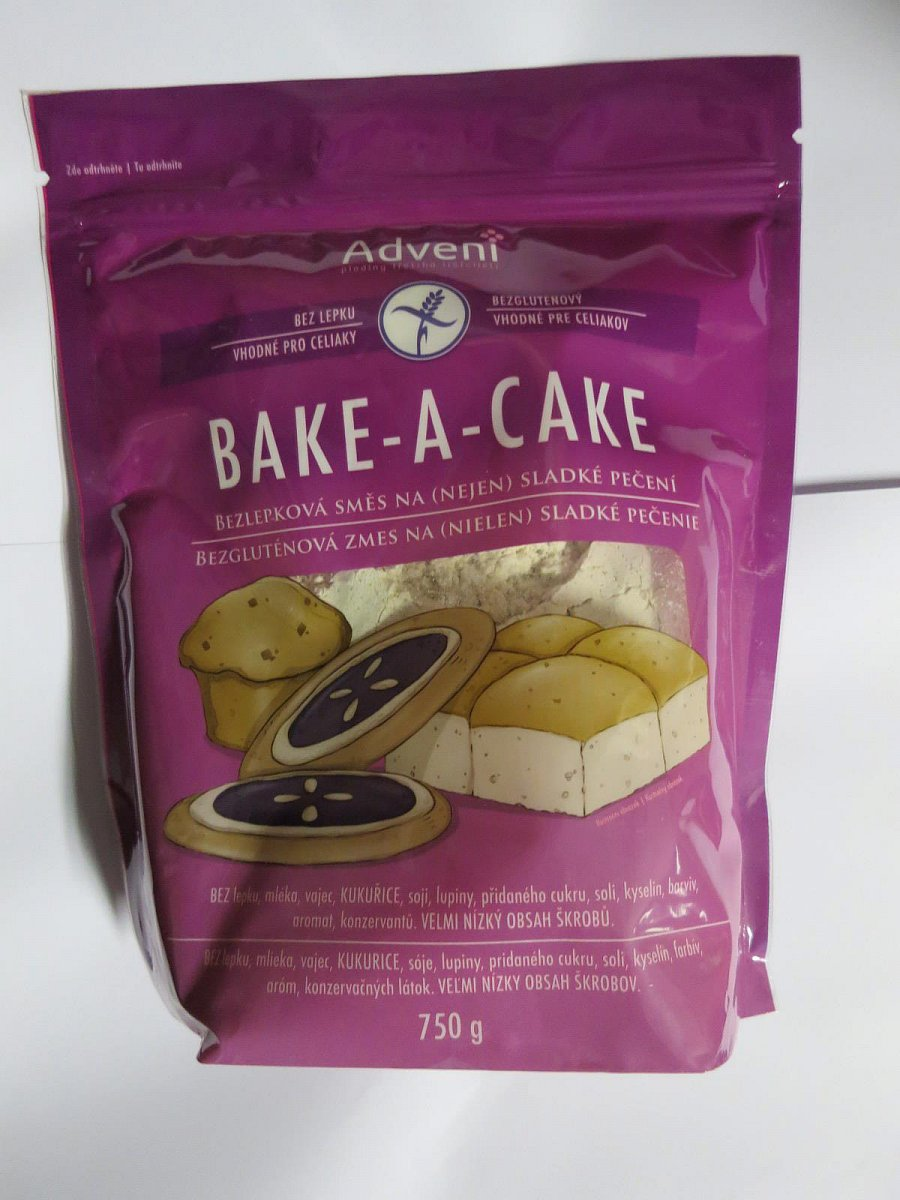 Adveni, BAKE-A-CAKE, Bezlepková směs (nejen) na sladké pečení, 7