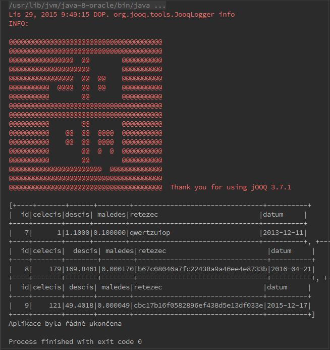 JavaFX: zobrazení ve widgetu a mazání záznamů