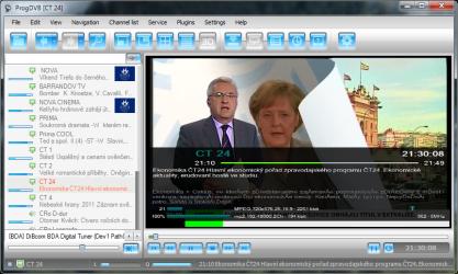 ProgDVB podporuje nejen analog, DVB-T a online, ale v placené verzi také satelit
