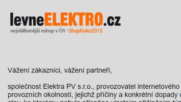 Lupa.cz: LevneElektro je mimo provoz. Prý kvůli berňáku