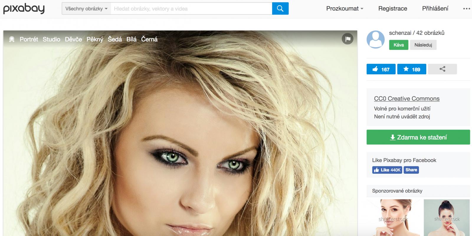 01061bb2853 Komerční profil ženy na obrázku. Jde o volně dostupný obrázek z fotobanky.