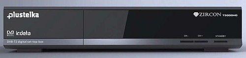 Přijímač Zircon T3000HD, který umožňuje sledovat programy i v normě DVB-T2