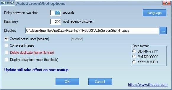 AutoScreenShot dokáže v pravidelných intervalech sejmou obrazovku