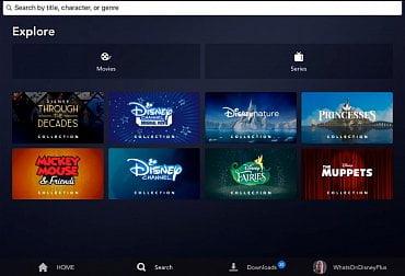 Nabídka testovací verze Disney+ (mobilní aplikace)
