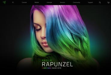 První RGB barva na vlasy od Razeru.
