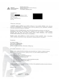 Dopis z VZP o přeregistraci k jiné pojišťovně