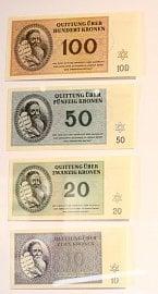 Bankovky s portrétem Mojžíše, které byly vytištěny za účelem zmatení mezinárodního Červeného kříže.
