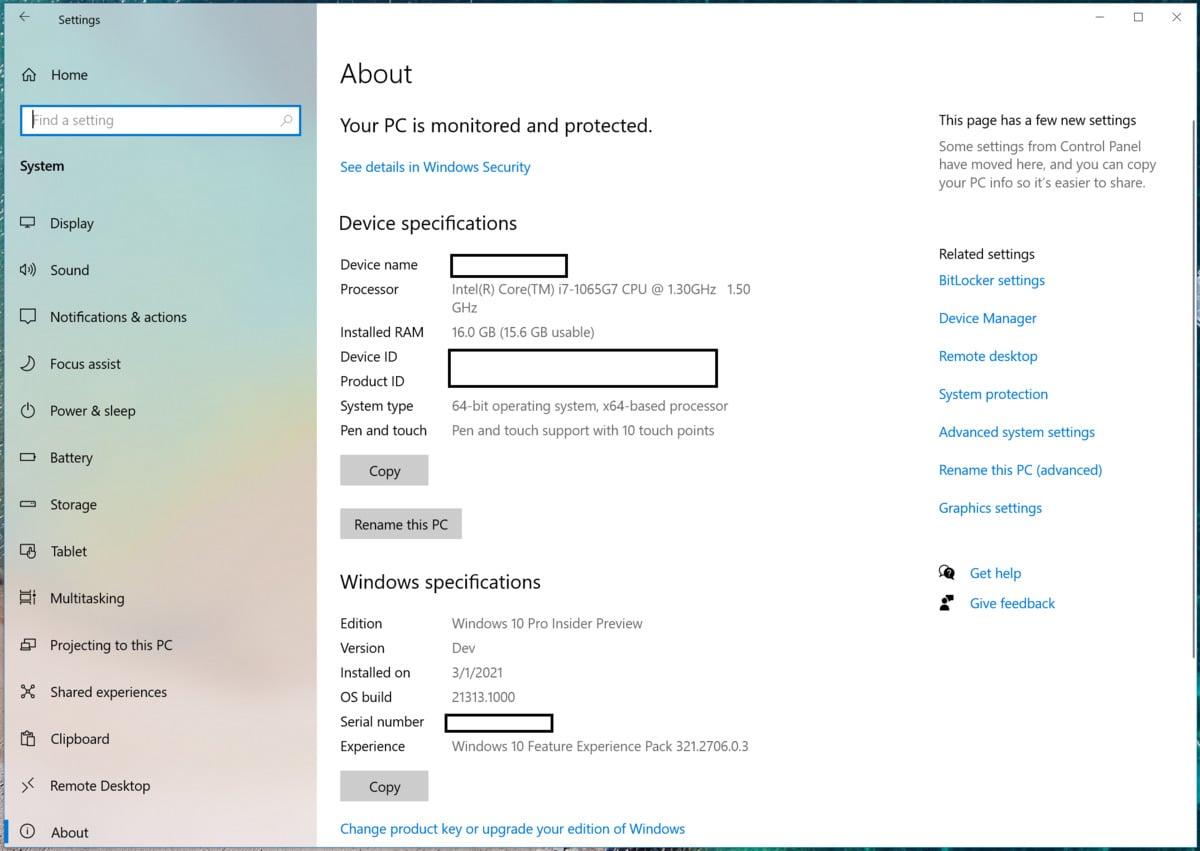 V aplikaci Nastavení operačního systému Windows 10 klepněte na položku Systém a následně na položku O aplikaci. Uprostřed stránky se pak nachází tlačítko Přejmenovat tento počítač.