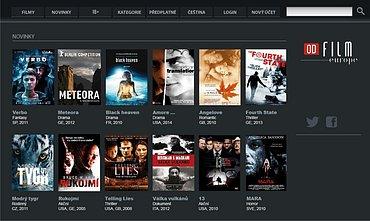 Ukázka portálu Film Europe On-Demand. Obrázek lze zvětšit.