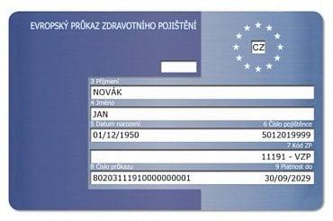 Nová podoba průkazu pojištěnce platná od 17. 9. 2019 (líc).