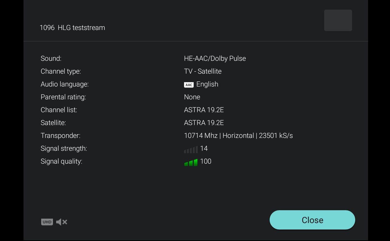 Astra vysílání 4K HDR - Philips 43PUS6561