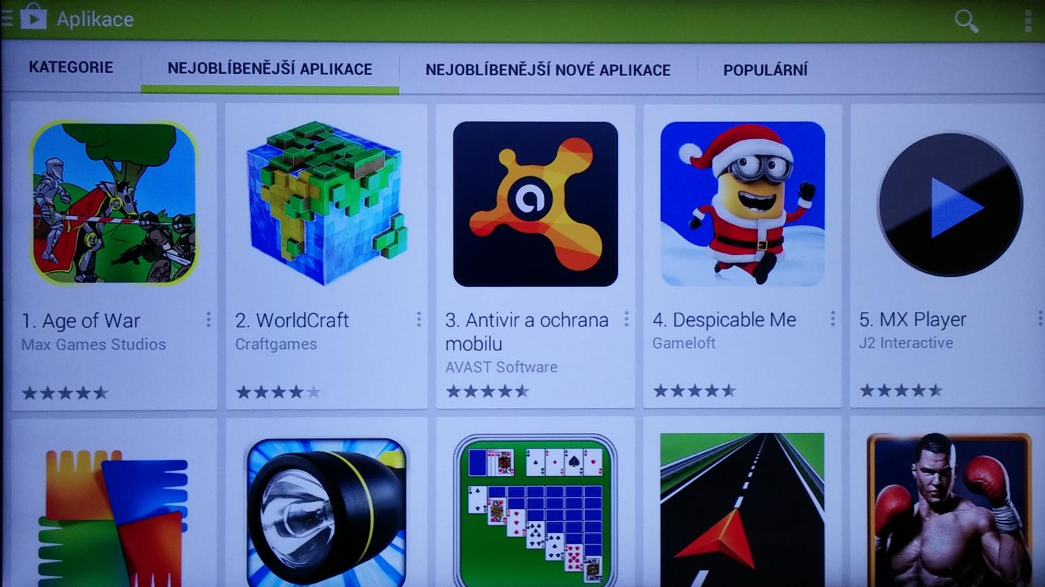 Google Play (Store) - Android 4.2 vs. Android TV