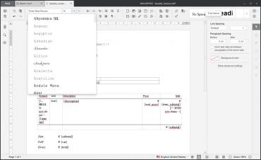 OnlyOffice: textový procesor