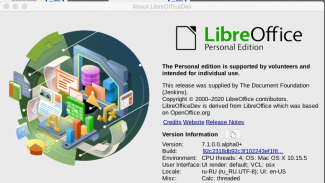 LibreOffice 7.0 RC1