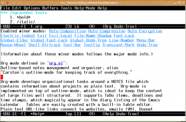 Základy použití režimu org-mode v Emacsu - Root cz