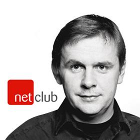 Logo NetClub s Robertem Čásenským