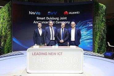 Spolupráce Huawei a německého města Duisburg