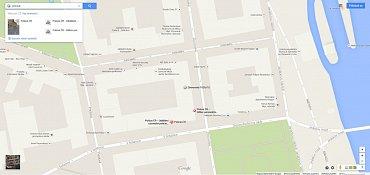 Google v okolí Zborovské 15 našel dvě různé policejní služebny.