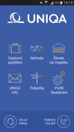 Úvodní strana aplikace.