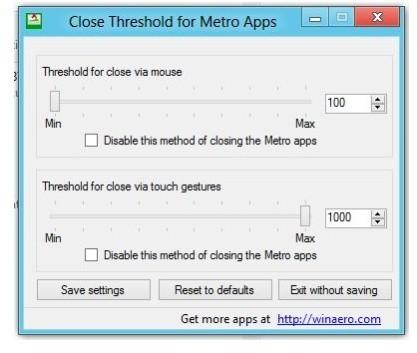 Close Threshold for Metro Apps upraví limit pro zavření Metro aplikací
