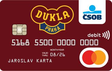 ČSOB a Poštovní spořitelna nabídne platební karty dalších fotbalových klubů.