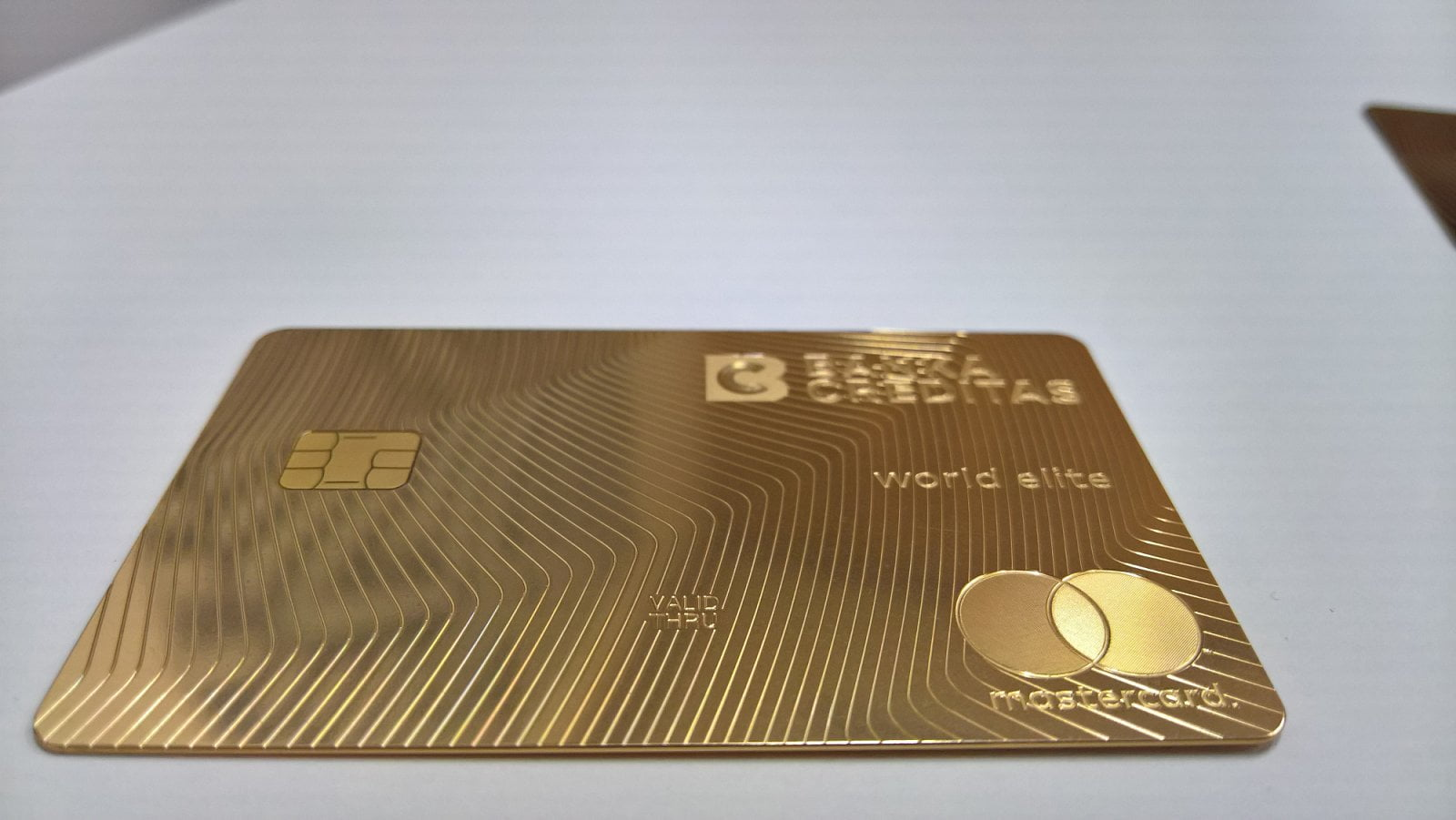 Karta Real Gold od Banky CREDITAS ve verzi Gold